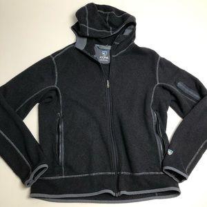 Kuhl Acrylic Fleece Gray Full Zip Sweater Hoodie